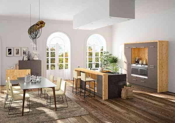 die haka zirbenk che verbindet edles holz mit modernem design das b2b magazin. Black Bedroom Furniture Sets. Home Design Ideas